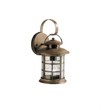 "Kichler 9760RST Rustic 1 Light 7"" Incandescent Outdoor Wall Sconce in Rustic"