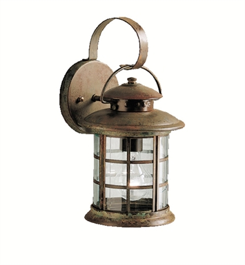 Kichler 9760RST Rustic Collection 1 Light Outdoor Wall Sconce in Rustic