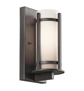 "Kichler 49119AVI Camden 1 Light 5"" Incandescent Outdoor Wall Sconce in Anvil Iron"
