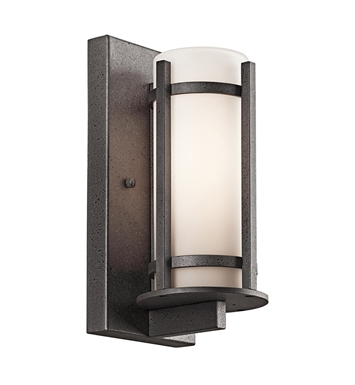 Kichler 49119AVI Camden Collection Single Light Outdoor Wall Sconce in Anvil Iron