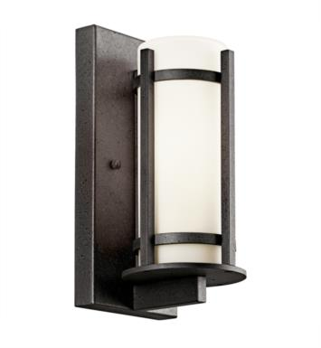 "Kichler 49119AVIFL Camden 1 Light 5"" Fluorescent Outdoor Wall Sconce in Anvil Iron"