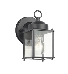 Kichler Modern 1 Light Outdoor Wall Sconce in Black (Painted)