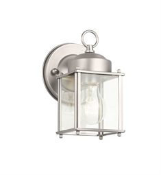 Kichler Modern 1 Light Outdoor Wall Sconce in Stainless Steel
