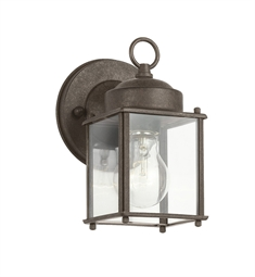 Kichler Modern 1 Light Outdoor Wall Sconce in Tannery Bronze