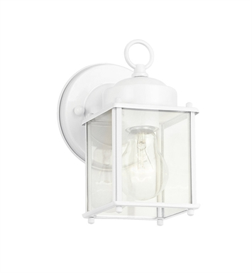 Kichler 9611WH Modern 1 Light Outdoor Wall Sconce in White