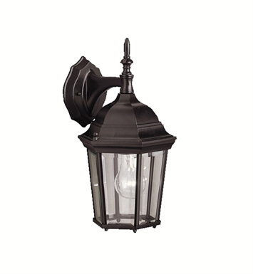 Kichler 9650BK One Light Outdoor Wall Sconces in Black (Painted)