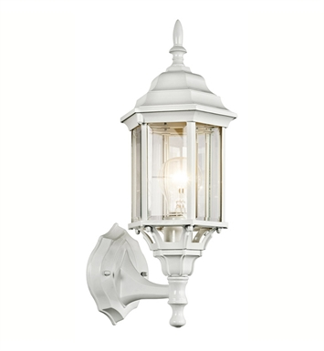 Kichler 49255WH Chesapeake Collection 1 Light Outdoor Wall Sconce in White