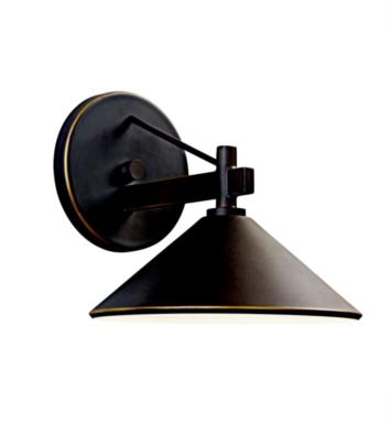 "Kichler 49059OZ Ripley 1 Light 8"" Incandescent Indoor/Outdoor Wall Sconce in Olde Bronze"