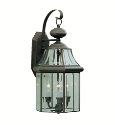 Kichler Embassy Row Collection 3 Light Outdoor Wall Sconce in Olde Bronze
