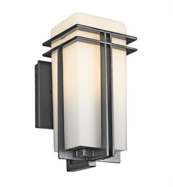 "Kichler 49200BK Tremillo 1 Light 5 3/4"" Incandescent Outdoor Wall Sconce in Black (Painted)"