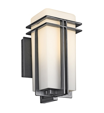 Kichler 49200BK Tremillo Collection One Light Outdoor Wall Sconce in Black (Painted)
