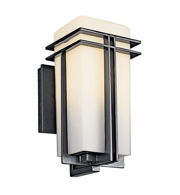 Kichler 49200BKFL Tremillo Collection One Light Fluorescent Outdoor Wall Sconce in Black (Painted)