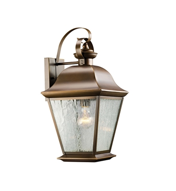 Kichler 9709OZ Mount Vernon Collection 1 Light Outdoor Wall Sconce in Olde Bronze