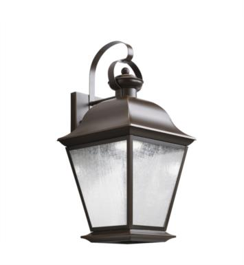 "Kichler 9709OZLED Mount Vernon 1 Light 9 1/2"" LED Outdoor Wall Sconce in Olde Bronze"
