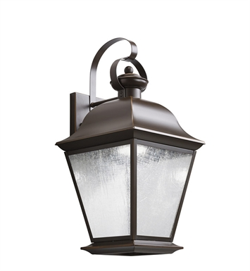 Kichler 9709OZLED Mount Vernon Collection 1 Light Outdoor Wall Sconce in Olde Bronze