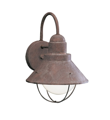 Kichler 9022OB Seaside Collection 1 Light Outdoor Wall Sconce in Olde Brick
