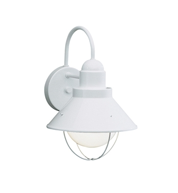 Kichler 9022WH Seaside Collection 1 Light Outdoor Wall Sconce in White