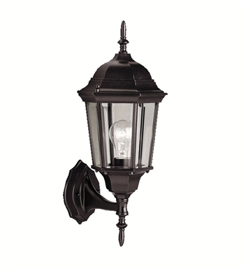 Kichler 9654BK One Light Outdoor Wall Sconces in Black (Painted)