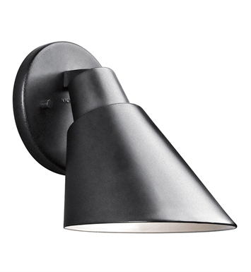Kichler 49082BK Beach Light Collection 1 Light Outdoor Wall Sconce in Black (Painted)