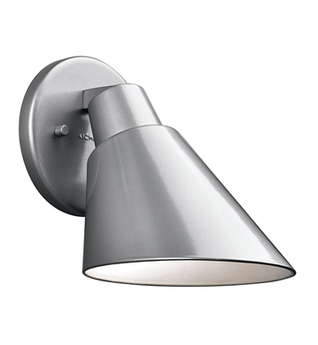 Kichler 49082PL Beach Light Collection 1 Light Outdoor Wall Sconce in Platinum