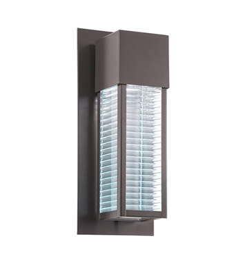 Kichler 49118AZLED Sorel Collection 1 Light LED Outdoor Wall Sconce in Architectural Bronze