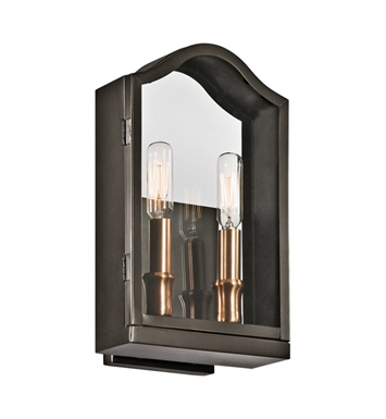 Kichler 49154OZ Antico Collection 2 Light Outdoor Wall Sconce in Olde Bronze