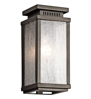 Kichler 49384OZ Manningham Collection 1 Light Outdoor Wall Sconce in Olde Bronze