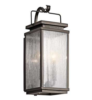Kichler 49385OZ Manningham Collection 2 Light Outdoor Wall Sconce in Olde Bronze