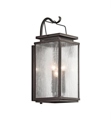 "Kichler 49386OZ Manningham 3 Light 9"" Incandescent Outdoor Wall Sconce in Olde Bronze"