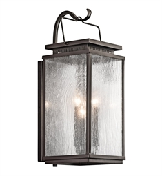 Kichler Manningham Collection 3 Light Outdoor Wall Sconce in Olde Bronze