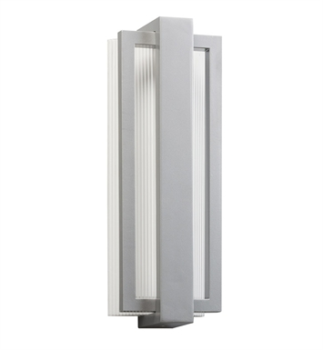 Kichler 49434PL Sedo Collection 1 Light LED Outdoor Wall Sconce in Platinum