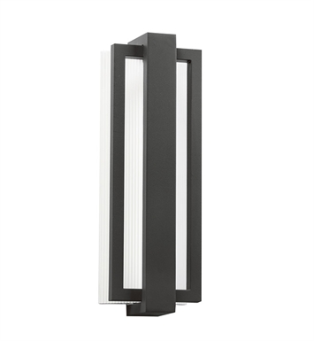 Kichler 49434SBK Sedo Collection 1 Light LED Outdoor Wall Sconce in Satin Black