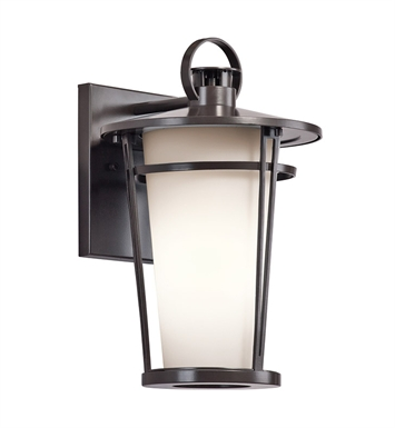 Kichler 49455AZ Belmez Collection 1 Light Outdoor Wall Sconce in Architectural Bronze
