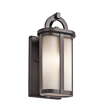 Kichler 49467AZ Rivera Collection 1 Light Halogen Outdoor Wall Sconce in Architectural Bronze