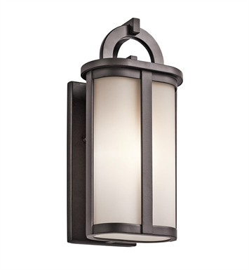 Kichler 49468AZ Rivera Collection 1 Light Outdoor Wall Sconce in Architectural Bronze