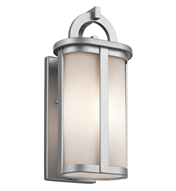 Kichler 49468PL Rivera Collection 1 Light Outdoor Wall Sconce in Platinum