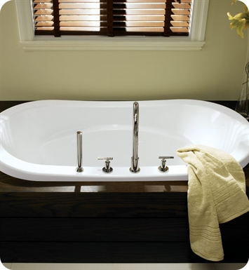 "Neptune Revelation 72"" x 42"" Customizable Oval Bathroom Tub With Jet Mode: Whirlpool + Mass-Air Jets"