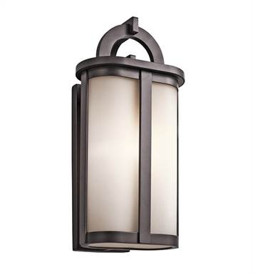 Kichler 49470AZ Rivera Collection 1 Light Outdoor Wall Sconce in Architectural Bronze