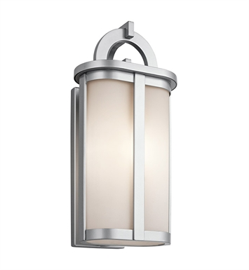 Kichler 49470PL Rivera Collection 1 Light Outdoor Wall Sconce in Platinum