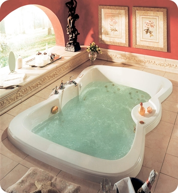 "Neptune ET72C Etna 72"" Customizable Bathroom Tub With Jet Mode: Whirlpool + Mass-Air Jets"