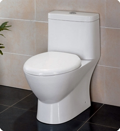 Eago TB346 Elongated One Piece Dual High Efficiency Low Flush Toilet