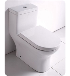EAGO TB353 Dual Flush One Piece Eco Friendly High Efficiency Low Flush Toilet