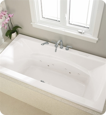 "Neptune BE3672C Believe 72"" x 36"" Customizable Rectangular Bathroom Tub With Jet Mode: Whirlpool + Mass-Air Jets"