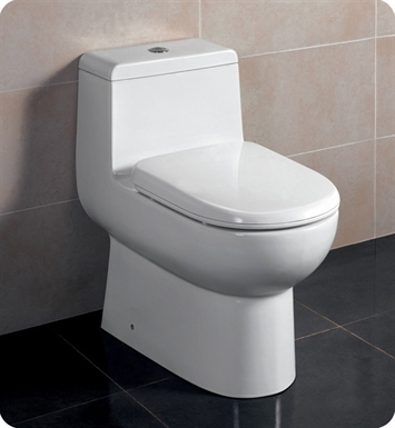 Eago TB351 One Piece Dual Flush High Efficiency Toilet with Soft Close Seat