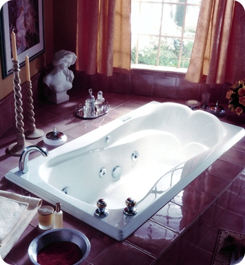 "Neptune ME66C Melia 66"" Customizable Rectangular Bathroom Tub With Jet Mode: Whirlpool + Mass-Air Jets"