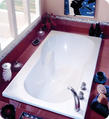 "Neptune JU60M Julia 60"" Customizable Rectangular Bathroom Tub With Jet Mode: Mass-Air Jets"