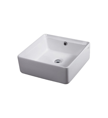 Eago BA130 15 inch Square Ceramic Above Mount Bathroom Basin