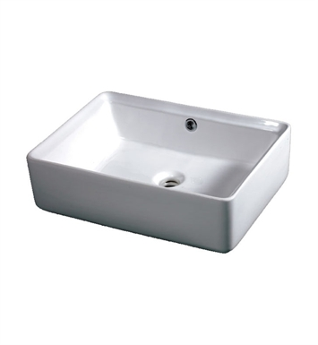 Eago BA131 20 inch Rectangular Ceramic Above Mount Basin