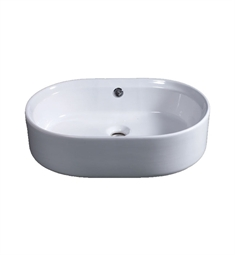 Eago BA132 22 inch Oval Ceramic Above Mount Basin