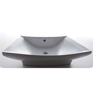 Eago BA142 28 inch Rectangular Ceramic Above Mount Basin